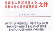深圳11月1日正式实行国六排放标准