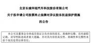 长城华冠申请终止挂牌 旗下前途汽车研发生产未受影响