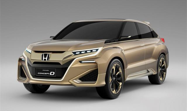UR-V有望在2017年4月上市发售。据悉,作为东风本田旗下首款中型SUV,UR-V在本田CONCEPT D概念车基础上打造而来,新车可以看作为冠道的兄弟车型。 看了以下要点,本文算读完一半: 1.在本田CONCEPT D概念车基础上打造而来,可以看作为冠道的兄弟车型; 2.长宽高分别为4825*1942*1670mm,轴距为2820mm; 3.
