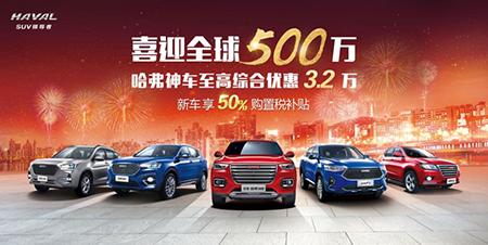全新H6冠军版优惠3.2万 立省出三个iphoneX