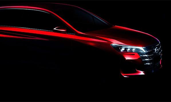 广汽传祺新GA6预告图 将于上海车展亮相