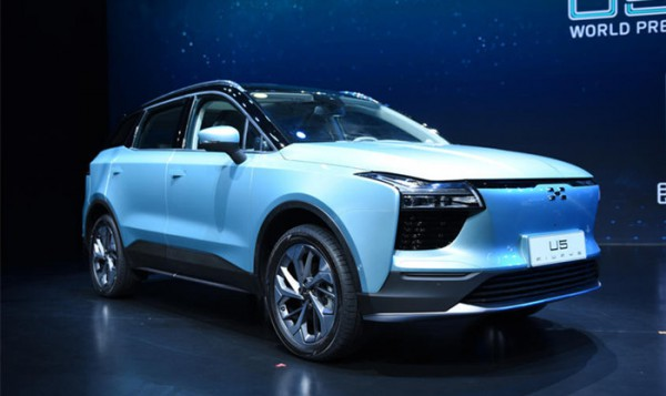 爱驰U5量产版成都车展预售 续航560km