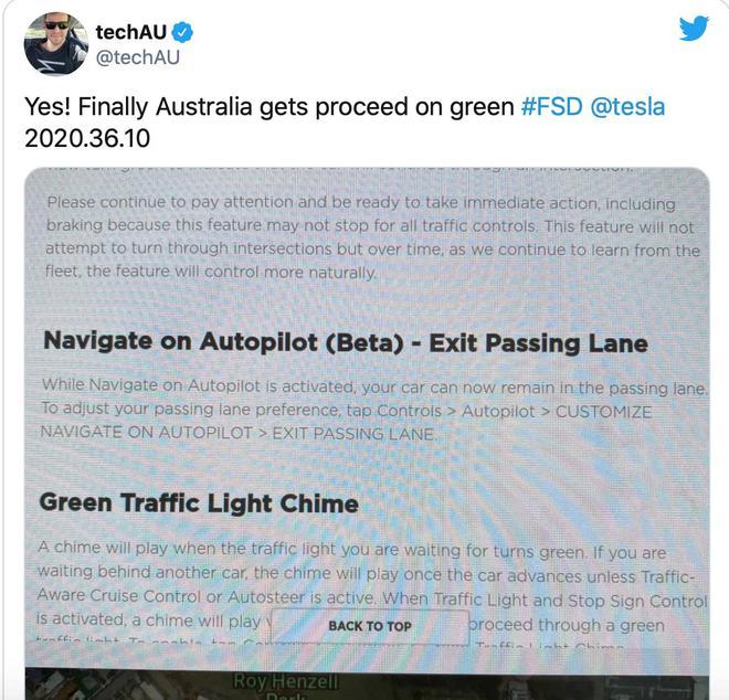 再进一步 特斯拉推出红绿灯和停车标志控制功能
