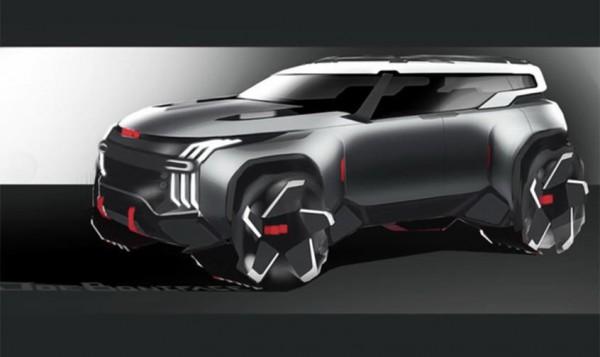 通用全新SUV设计草图曝光 未来感十足